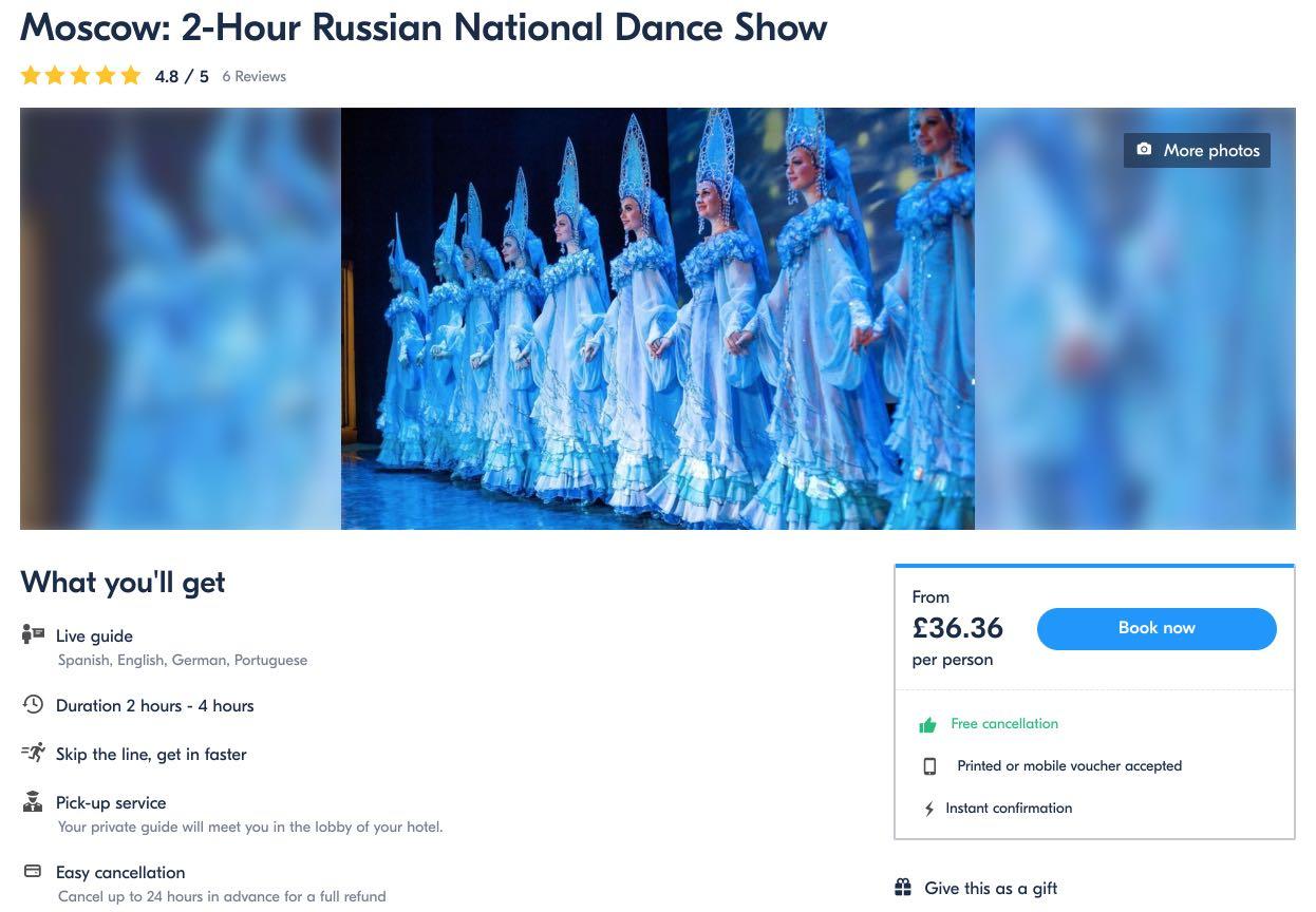 Moskva 2-tunnine Vene rahvuslik tantsupood Kostroma