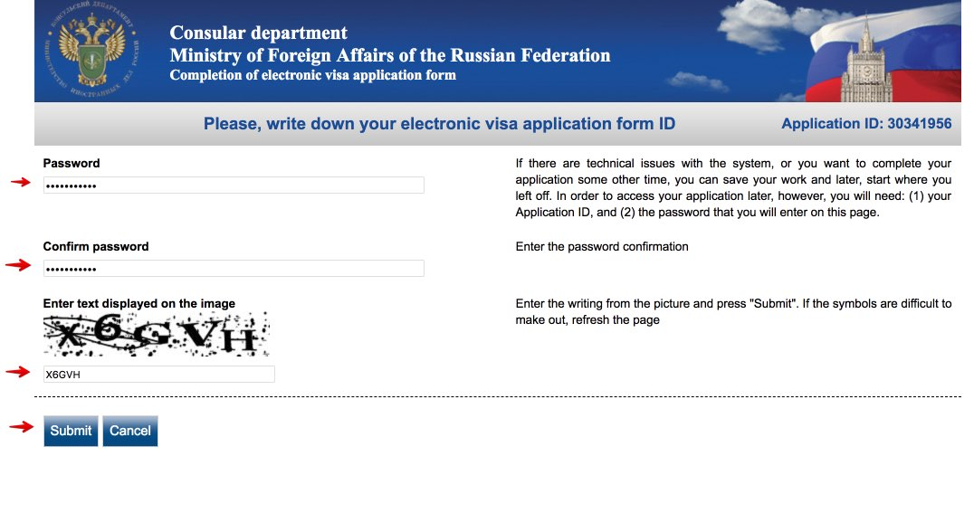 Fill out Russian Visa Application Form for Czech citizens 2